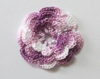 "RUFFLED Spool Pin Doily (2.0"") - Multi PURPLES"