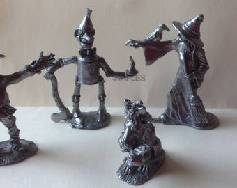 Comstock Pewter Wizard of Oz  figures Set of 5