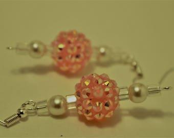 Pretty in Pink Earring Necklace and Bracelet Set