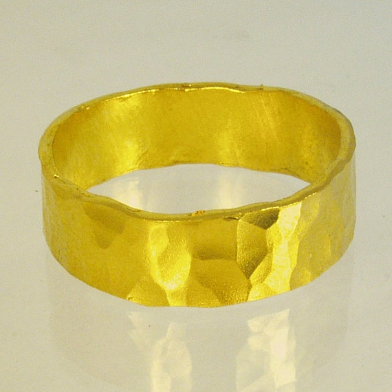 Pure gold mens wedding band 24 Karat solid gold ring100
