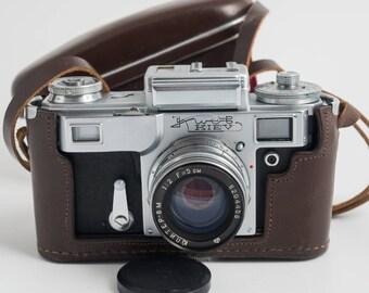 Kiev 4 rangefinder camera, Jupiter 8m, 50mm f2