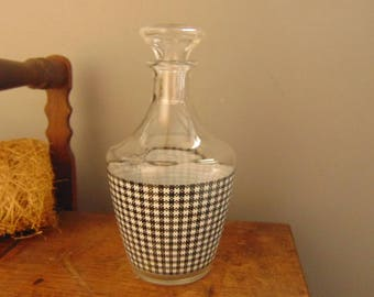 Old glass liquor decanter