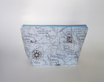 Medium Knitting Project Bag, World Map Project Bag, Crafter Project Bag, Sock Knitting Bag, Traveller Project Bag