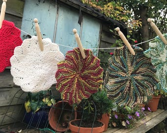 Cotton knitted dishcloths
