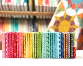 Bee Basics -Fat Eighth Fabric Bundle by Lori Holt - 31 prints