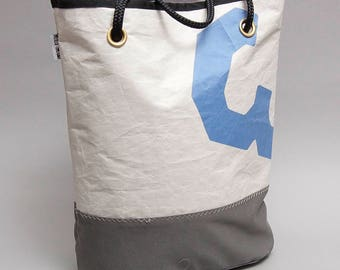J24 recycled sail tote bag with the original number 3