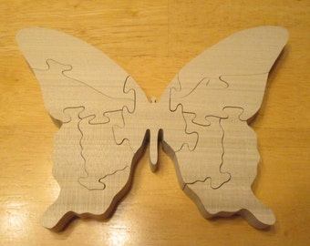 Montessori educational, Wood Butterfly Puzzle, Kids puzzle, wood Puzzle