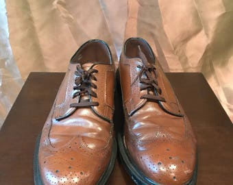 Brown Wing Tip Oxfords