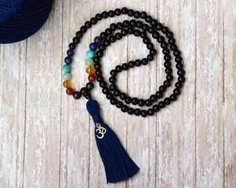 108 Mala Bead, Tassel Necklace, Bohemian Necklace, Yoga Beads, Meditation Prayer Beads, Mala Necklace, Mala Bead, Boho Chic Handmade Jewelry