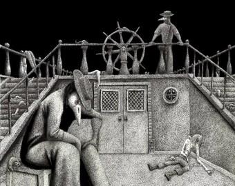 Mare Nostrum Aeger - Original plague doctor art by Propraetor