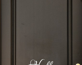 Hello Goodbye Door Decal - Door Decals - Housewarming Gifts - Business Decor