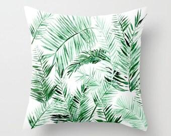 Palm Leaf Throw Pillow, palm leaf pillow, palm leaves pillow, palm throw pillow, leaf throw pillow, tropical leaf pillow