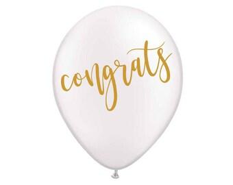 Congrats Balloon, Graduation Balloon, Promotion Balloon, Celebration Decor, Graduation Decor, Promotion Decor, Congratulations, Engagement,