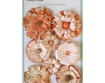 Floral Boutique Peach Paper Flowers
