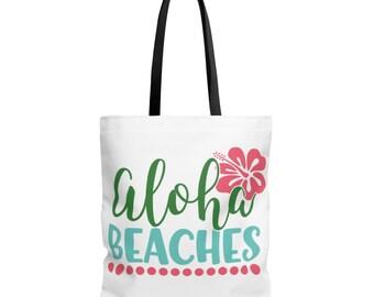 Aloha Beaches  Aop Tote Bag