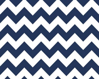 Chevron - Navy and White - 7x9 Sweet Bobbins Wet Bag - SEAM SEALED - Snap Strap