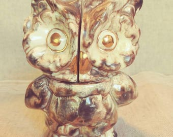 Majolica Style Owl