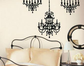 Exceptional Chandelier Wall Decal, Chandelier Wall Art, Wall Sticker,Bedroom Wall Decor,  Living