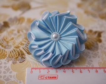 Blue kanzashi hair elastic