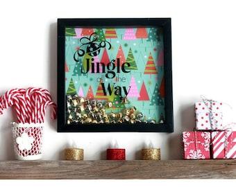 Jingle All the Way - Christmas Decoration - Christmas Shadowbox - Christmas Wall Art - Christmas Gift - Holiday Decor - Christmas Presents