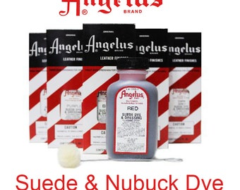 Suede Dye - Angelus -  6 Colors for use on Suede and nubuck leathers