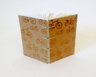 Minty Green Bicycles A6 Sketchbook