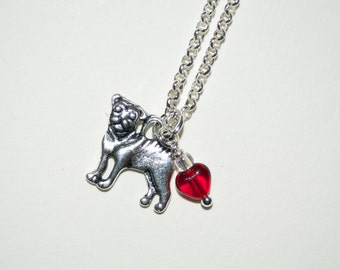 Pug Necklace, Pug Dog Necklace, Tiny Dog Charm Pendant, Silver Pug Pendant, Pug Charm, I Love Pugs, Pug Jewelry, Pug Dog Jewelry, Pug Lover