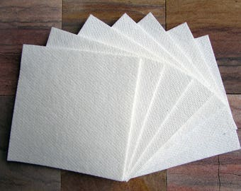 "100 Sheets 4x4"" Kiln Shelf Paper • 1 mm • 2300 F • Ceramic Fiber Paper • Glass Fusing"