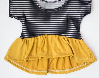 baby peplum top fall clothes mustard floral baby fashion hi low dolman boho baby outfit toddler girl skirt tops wholesale baby tunic