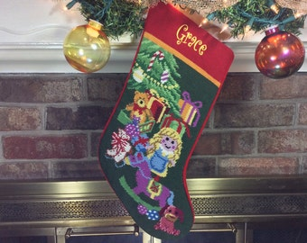 Personalized stockings for dog cat horse their by babarkergifts doll personalized christmas stockings christmas stocking personalized christmas stockings needlepoint solutioingenieria Images