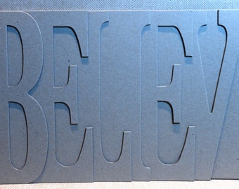 BELIEVE Chipboard Album 5.5 high x 12 inches long