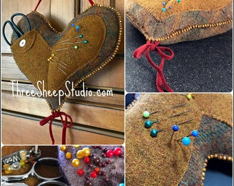 A Stitcher's Heart - Wool Applique Pattern #WA110