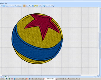 Embroidery Iron-on Patch - Ball with Star