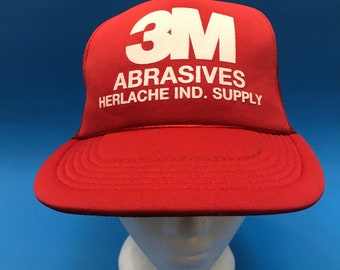 Vintage 3M Trucker Snapback Hat Adjustable 1980s