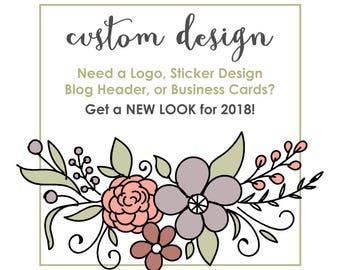 Custom Design for Your Business - Logo, Sticker, Website or Facebook Header, Business Cards