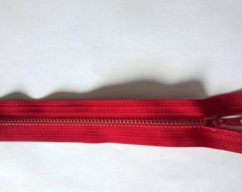 Red non zipper separable 21 cm