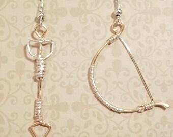 Bow and arrow earrings
