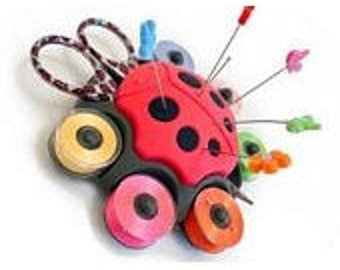 Ladybug Sewing Caddy by Smart Needle