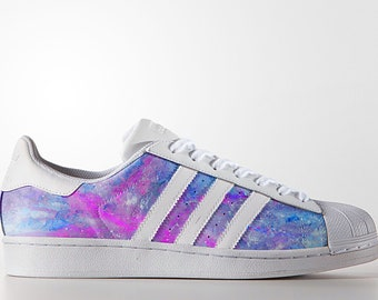 Custom Adidas Superstar,superstar,galaxy,space,custom sneakers ,custom shoes  ,