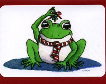 Frog (Mistletoad) Christmas Card