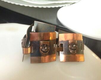 Copper Comedy Mask Bracelet