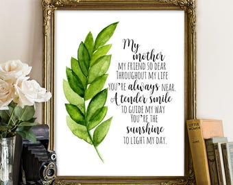 Happy Mother's Day, INSTANT DOWNLOAD Printable, mother's day print, mother's day gift, floral mothers day, happy mother's day gift, mom art