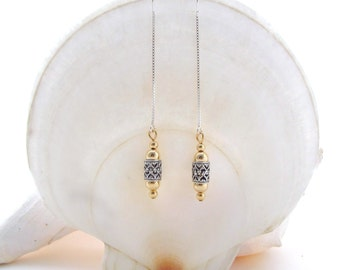 U Threaders with Sterling Silver and Gold Filled Beads Dangle