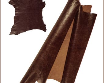 V222-P-skin leather ANTIQUE WEATHERED Brown (Xl).