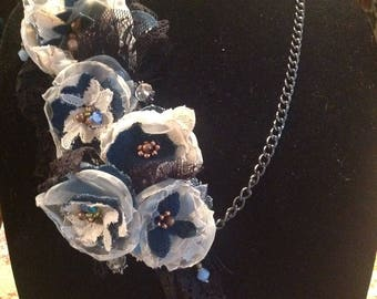 mixed media statement necklace