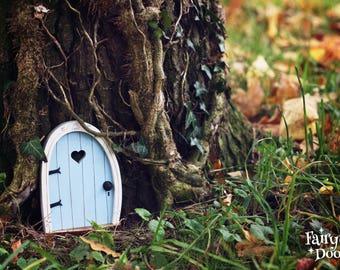 Fairy Door 'Bella' in Blue - Blue Fairy door - Fairy door for tree - Miniature door - Fairy garden - Fairytale door  - Tooth Fairy door