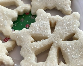 Two Dozen Snowflake Cookies Sugar Cookies in Gold Gift Box Gift For Her Snowflake Sugar Cookies Winter Theme Party Dessert CatDKnits