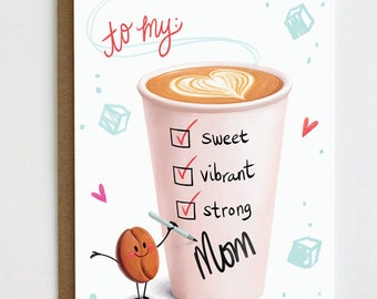 Mother's Day Card, Card for Mom, Thanks Mom, Happy Mother's Day