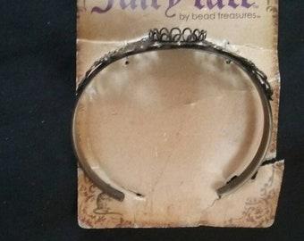 Metal Bracelet with Blank Attached, Bracelet Blank, Make Your Own Bracelet, Nickel Free Bracelet Blank
