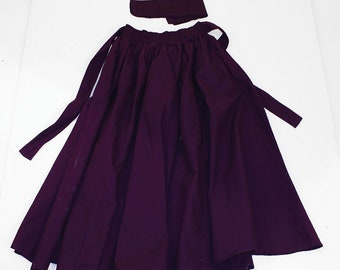 African  Maxi Skirt - Purple